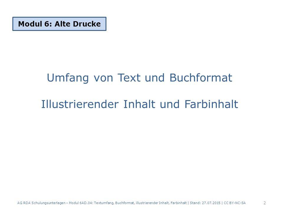 Umfang von Text und Buchformat Illustrierender Inhalt und Farbinhalt