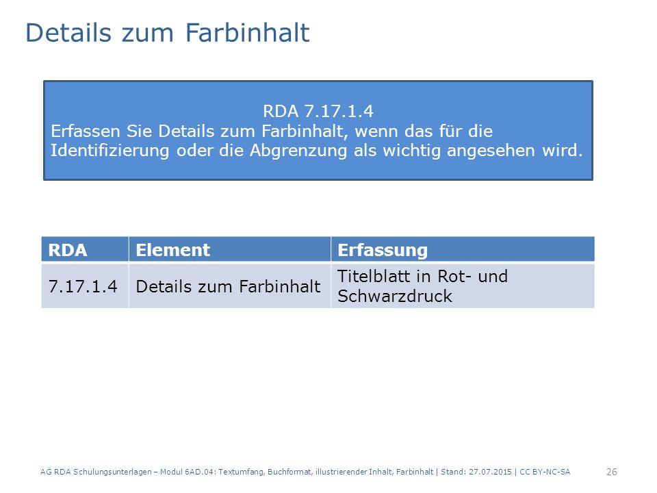 Details zum Farbinhalt