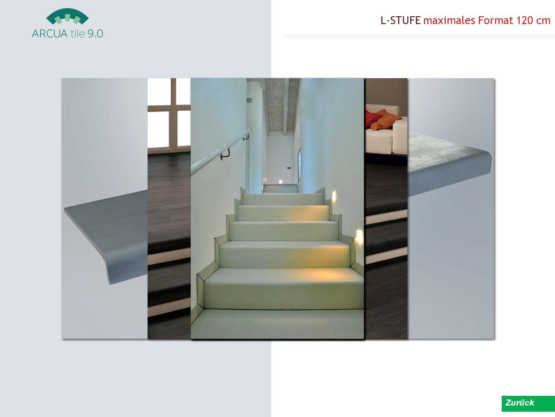 L-STUFE maximales Format 120 cm