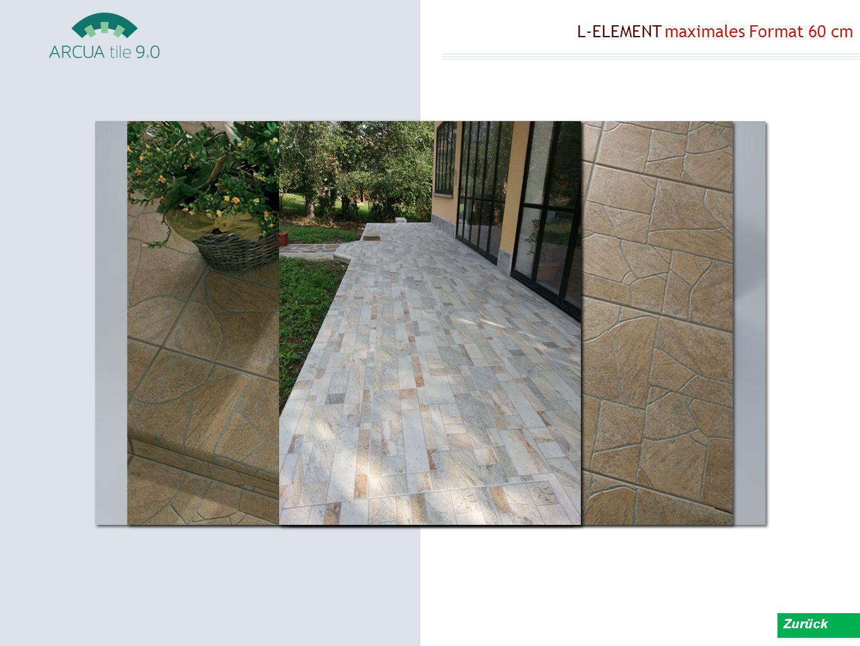 L-ELEMENT maximales Format 60 cm