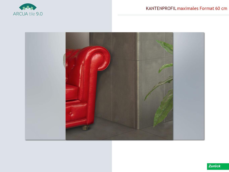 KANTENPROFIL maximales Format 60 cm