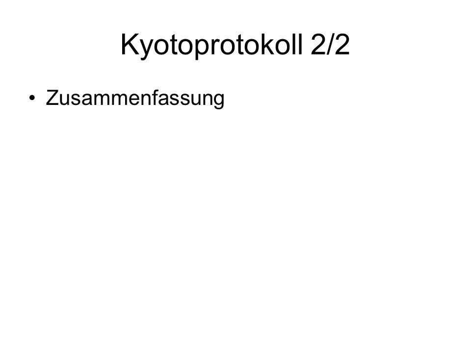 Kyotoprotokoll 2/2 Zusammenfassung