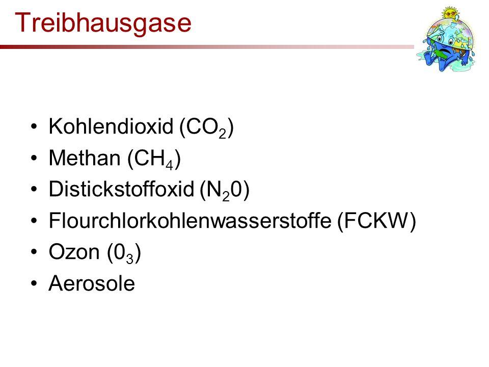 Treibhausgase Kohlendioxid (CO2) Methan (CH4) Distickstoffoxid (N20)