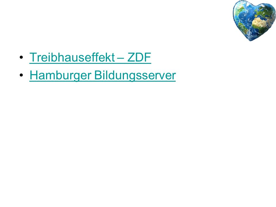 Treibhauseffekt – ZDF Hamburger Bildungsserver