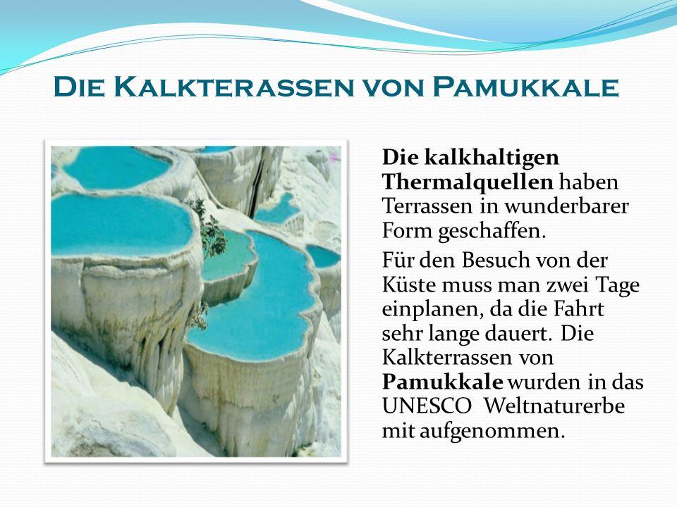Die Kalkterassen von Pamukkale