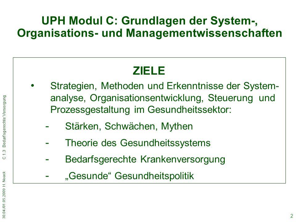 UPH Modul C: Grundlagen der System-, Organisations- und Managementwissenschaften