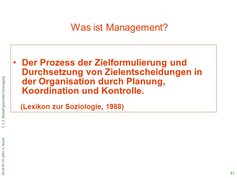 Was ist Management