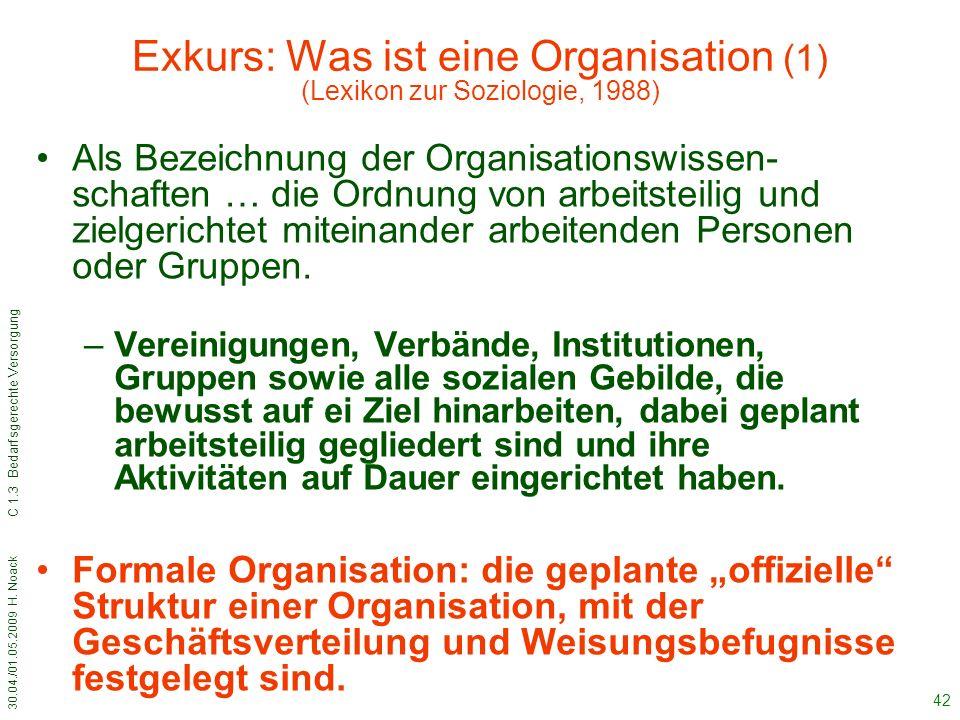 Exkurs: Was ist eine Organisation (1) (Lexikon zur Soziologie, 1988)