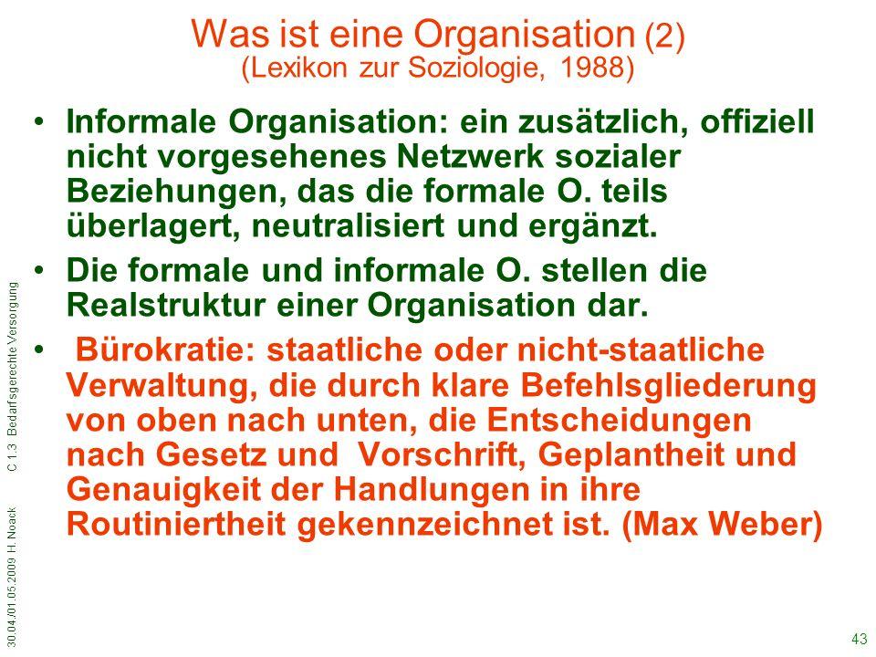 Was ist eine Organisation (2) (Lexikon zur Soziologie, 1988)
