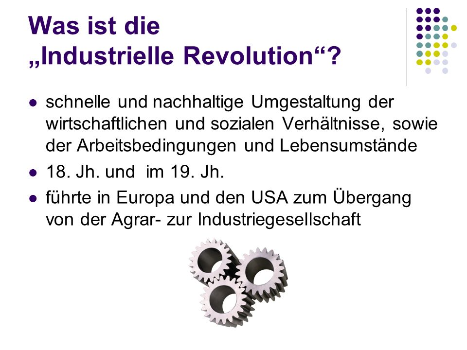 """Was ist die """"Industrielle Revolution"""