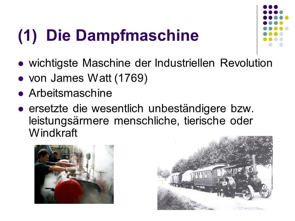 Die Dampfmaschine wichtigste Maschine der Industriellen Revolution