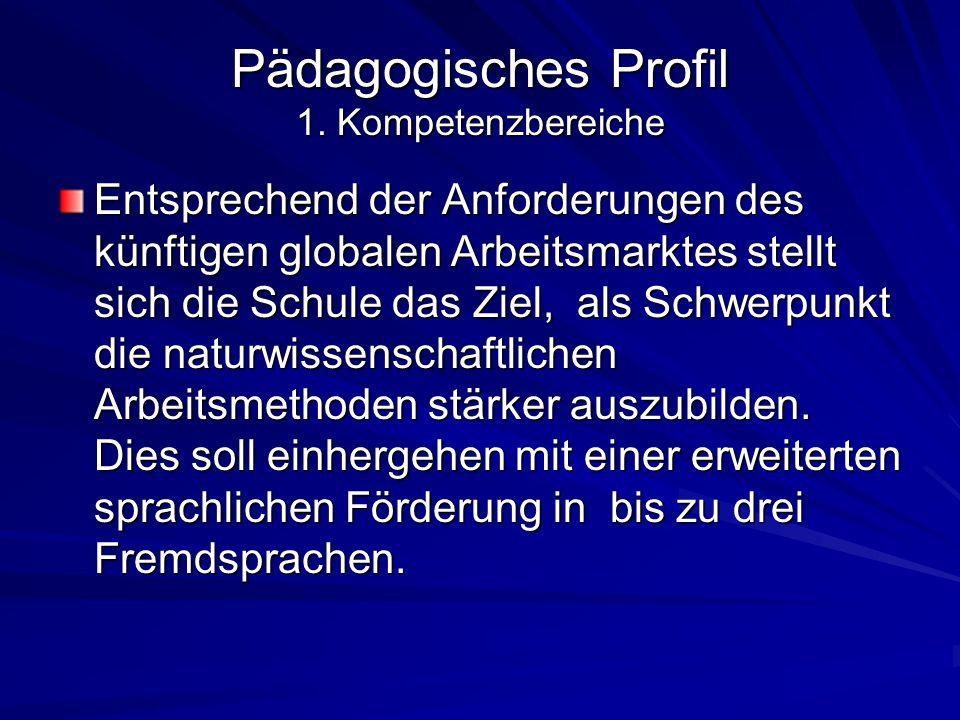 Pädagogisches Profil 1. Kompetenzbereiche