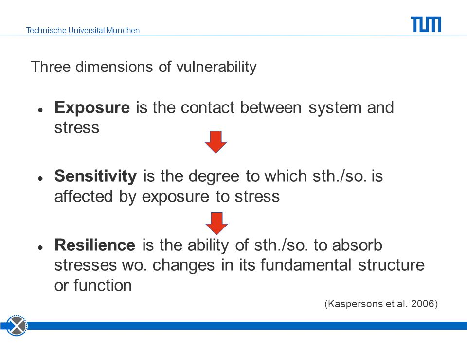 Three dimensions of vulnerability
