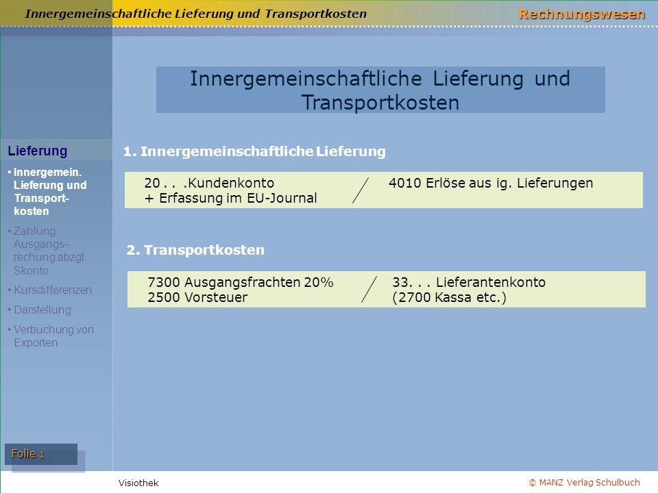 Innergemeinschaftliche Lieferung und Transportkosten