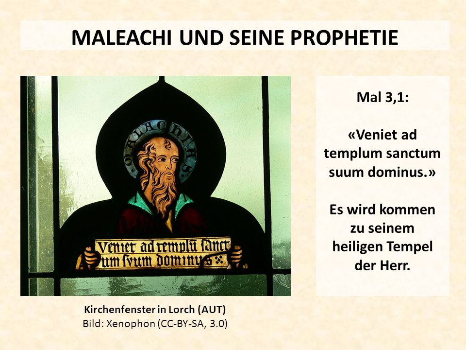 MALEACHI UND SEINE PROPHETIE