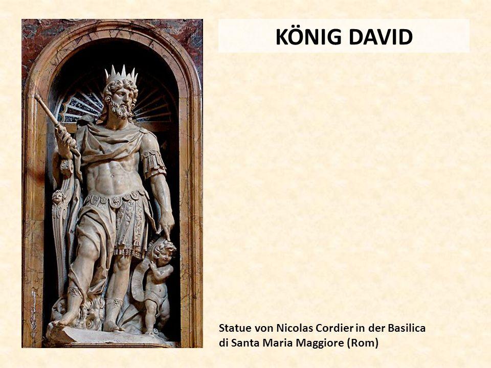 KÖNIG DAVID Statue von Nicolas Cordier in der Basilica di Santa Maria Maggiore (Rom)