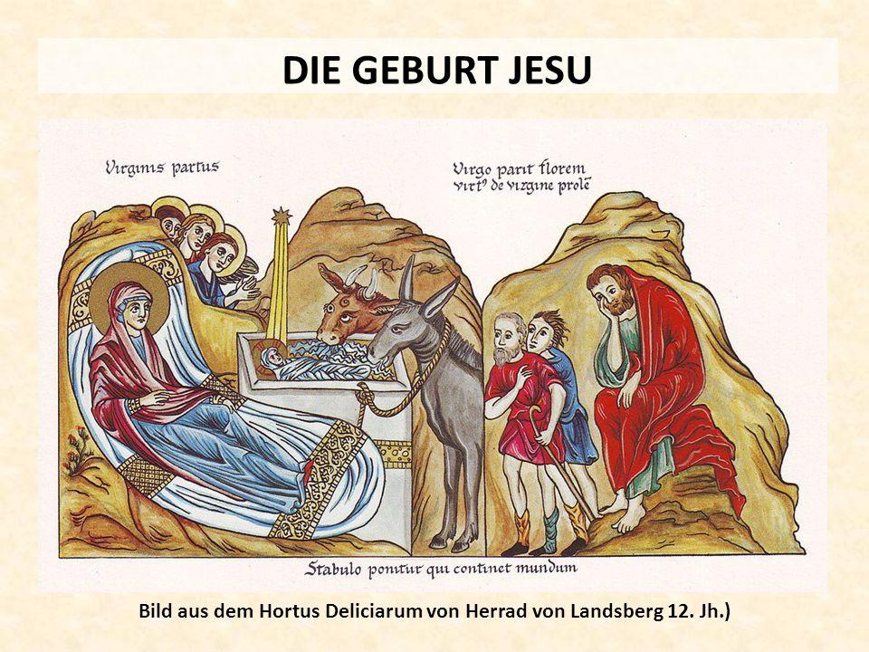 Bild aus dem Hortus Deliciarum von Herrad von Landsberg 12. Jh.)
