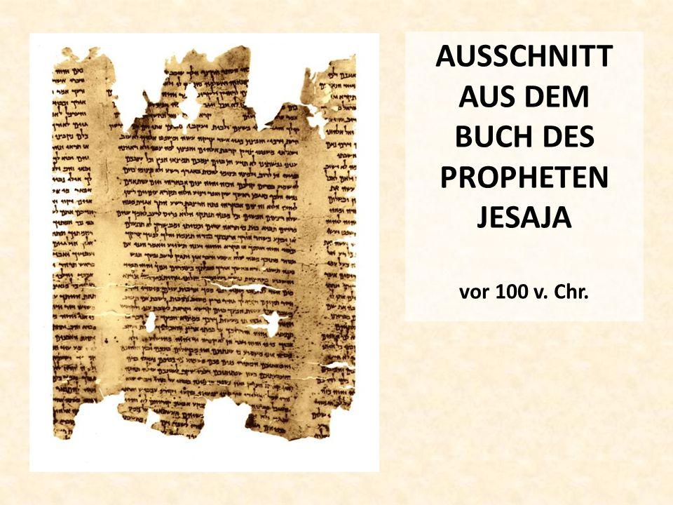 AUSSCHNITT AUS DEM BUCH DES PROPHETEN JESAJA