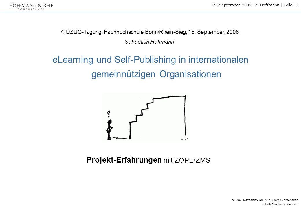 Projekt-Erfahrungen mit ZOPE/ZMS
