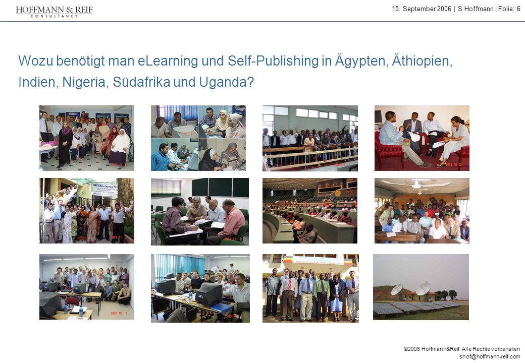 Wozu benötigt man eLearning und Self-Publishing in Ägypten, Äthiopien, Indien, Nigeria, Südafrika und Uganda