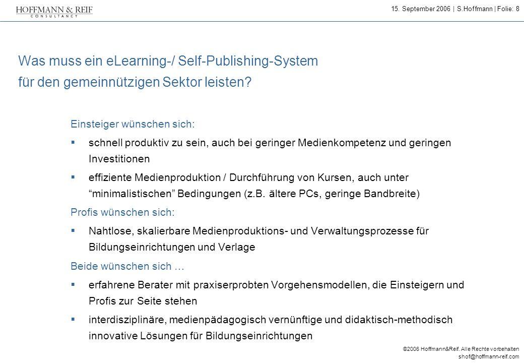 Was muss ein eLearning-/ Self-Publishing-System für den gemeinnützigen Sektor leisten