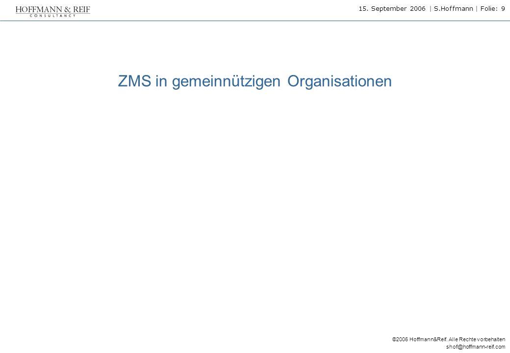 ZMS in gemeinnützigen Organisationen