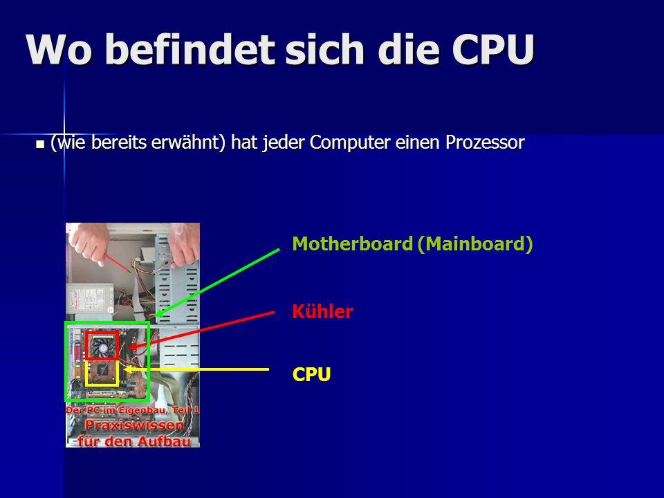 Wo befindet sich die CPU