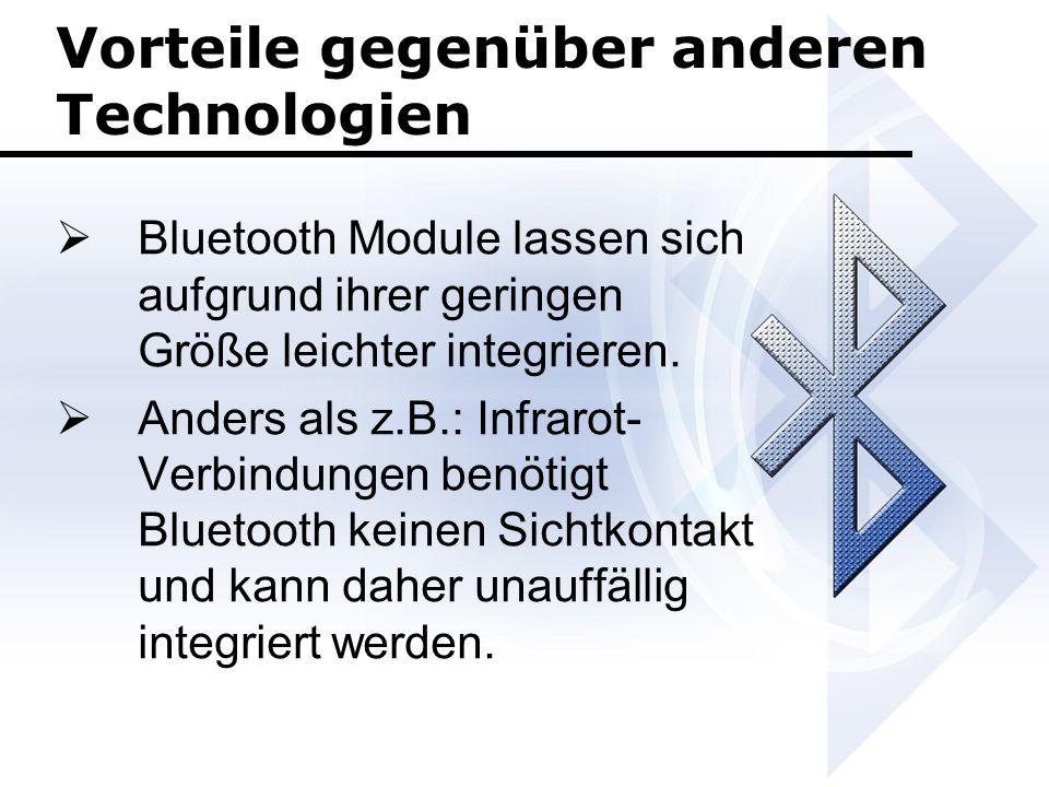 Vorteile gegenüber anderen Technologien