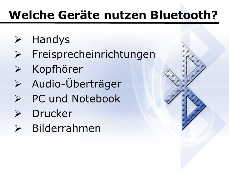 Welche Geräte nutzen Bluetooth