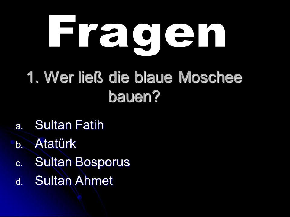 1. Wer ließ die blaue Moschee bauen