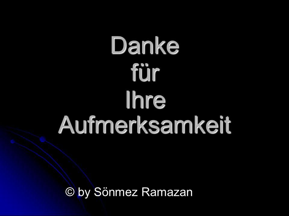Danke für Ihre Aufmerksamkeit © by Sönmez Ramazan