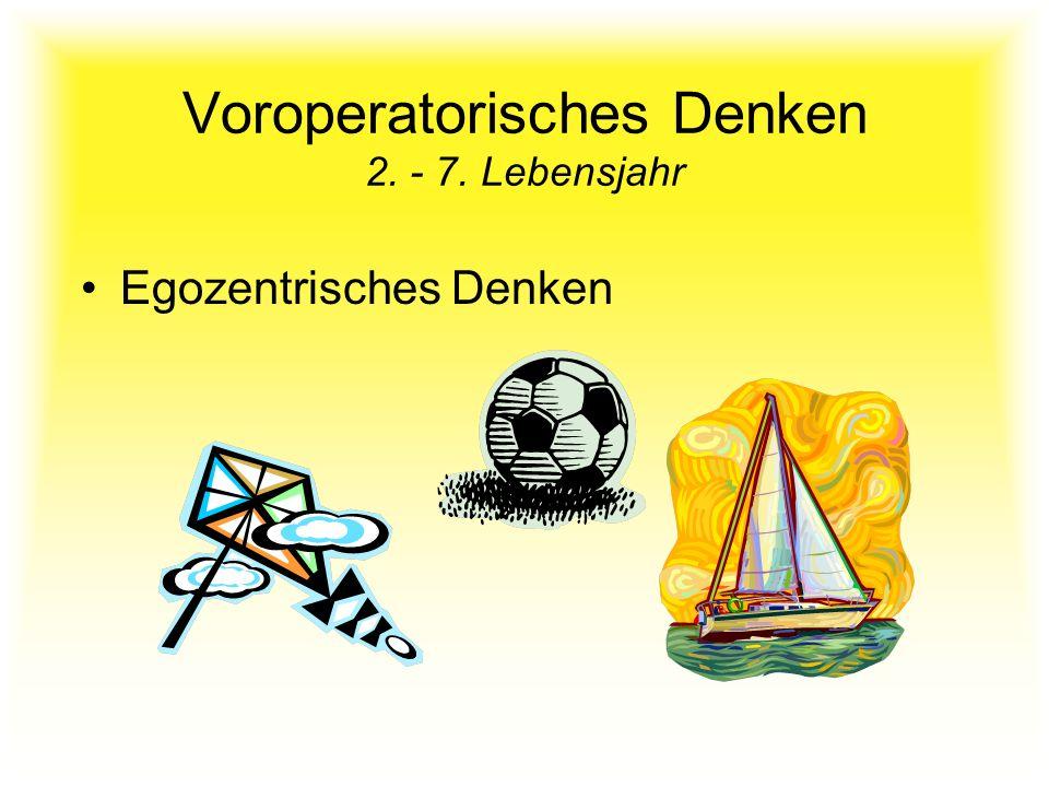 Voroperatorisches Denken 2. - 7. Lebensjahr