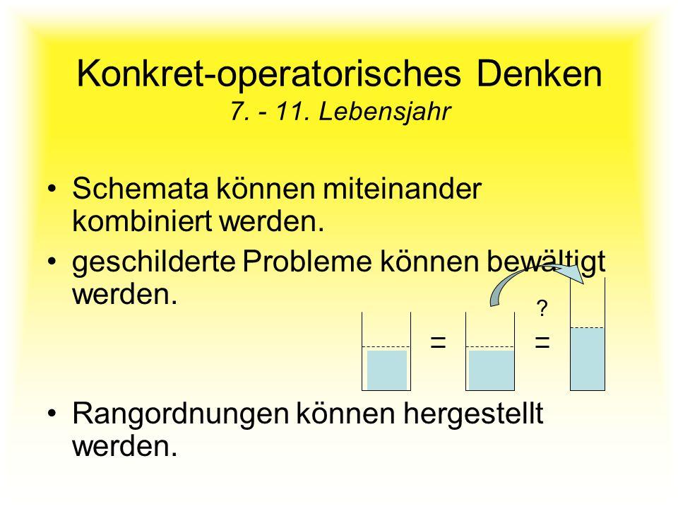 Konkret-operatorisches Denken 7. - 11. Lebensjahr