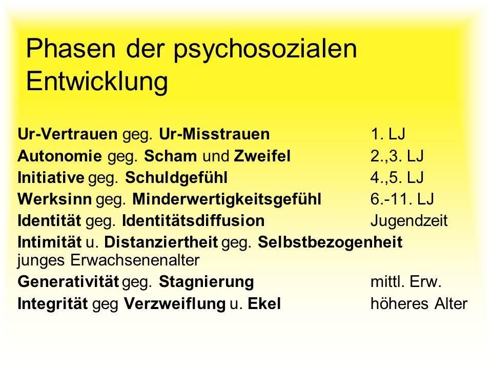 Phasen der psychosozialen Entwicklung