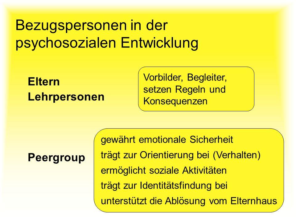 Bezugspersonen in der psychosozialen Entwicklung