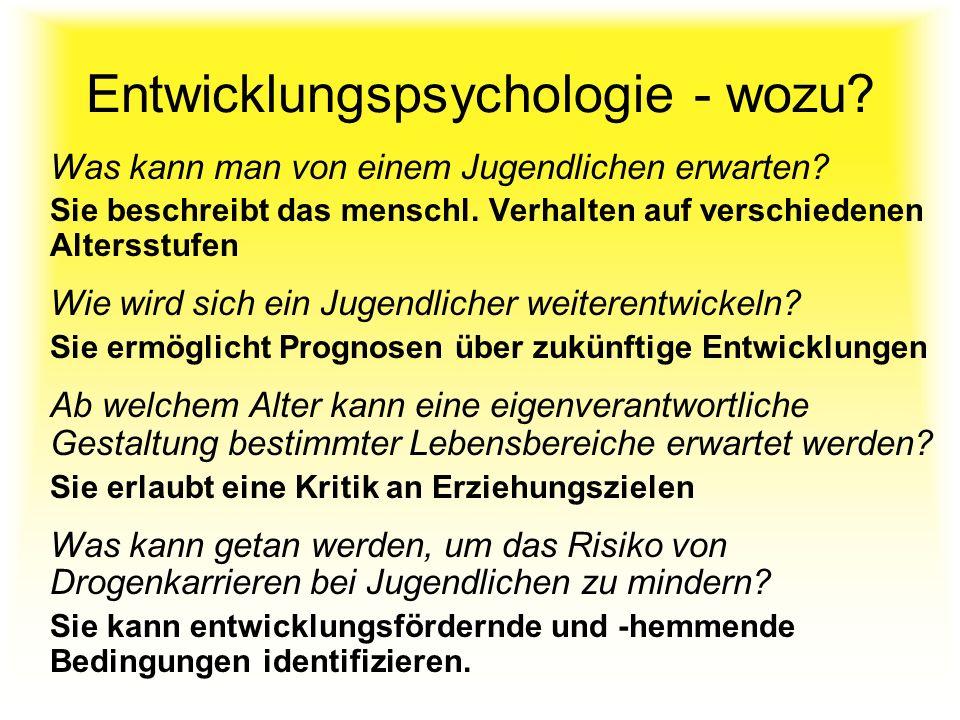 Entwicklungspsychologie - wozu
