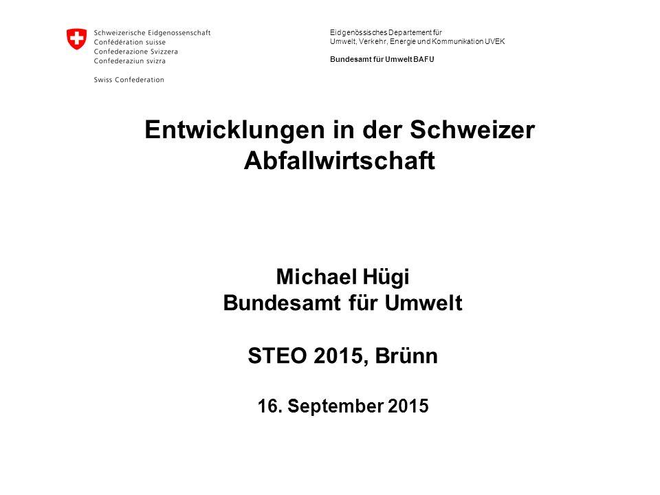 Michael Hügi Bundesamt für Umwelt STEO 2015, Brünn 16. September 2015