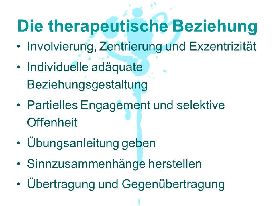Die therapeutische Beziehung