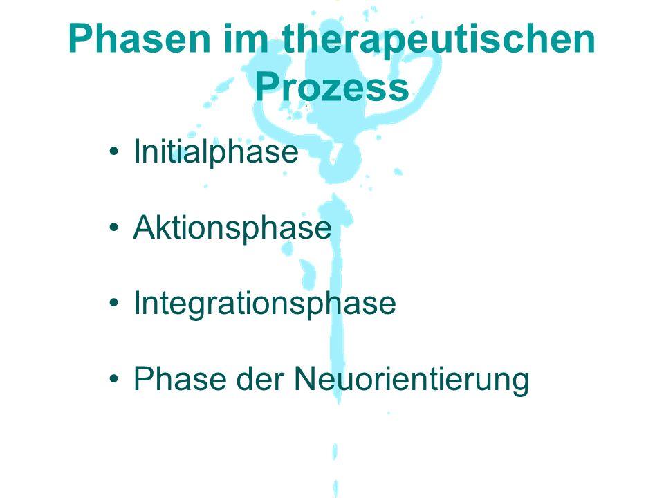 Phasen im therapeutischen Prozess