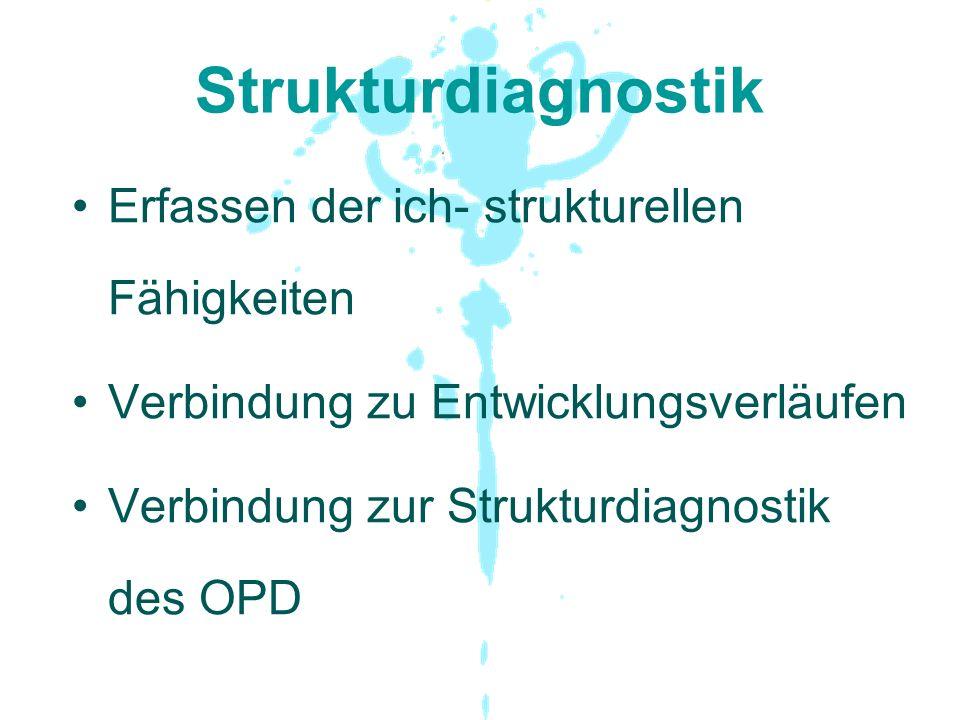 Strukturdiagnostik Erfassen der ich- strukturellen Fähigkeiten