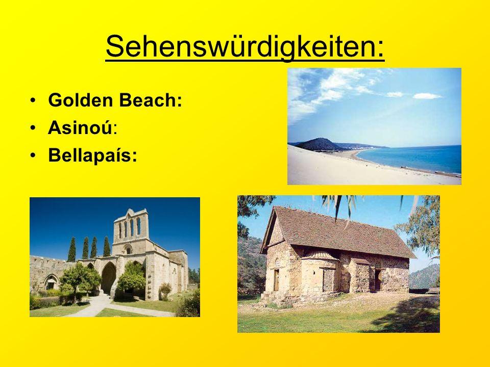 Sehenswürdigkeiten: Golden Beach: Asinoú: Bellapaís: