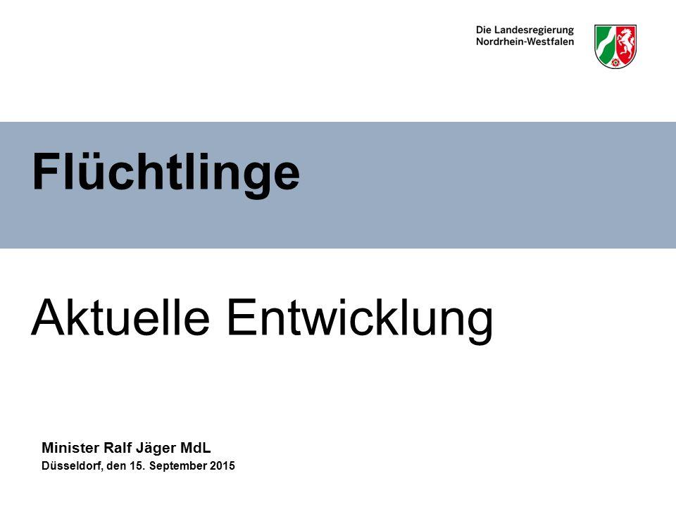 Flüchtlinge Aktuelle Entwicklung Minister Ralf Jäger MdL