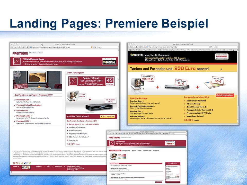 Landing Pages: Premiere Beispiel