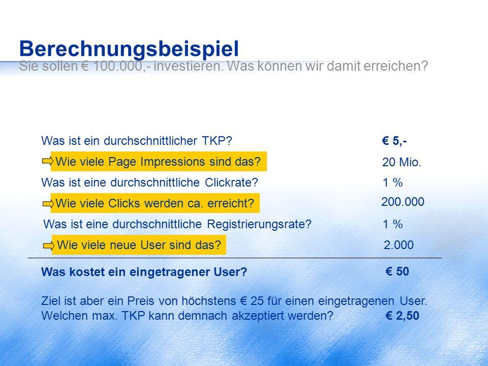 Berechnungsbeispiel Sie sollen € 100. 000,- investieren