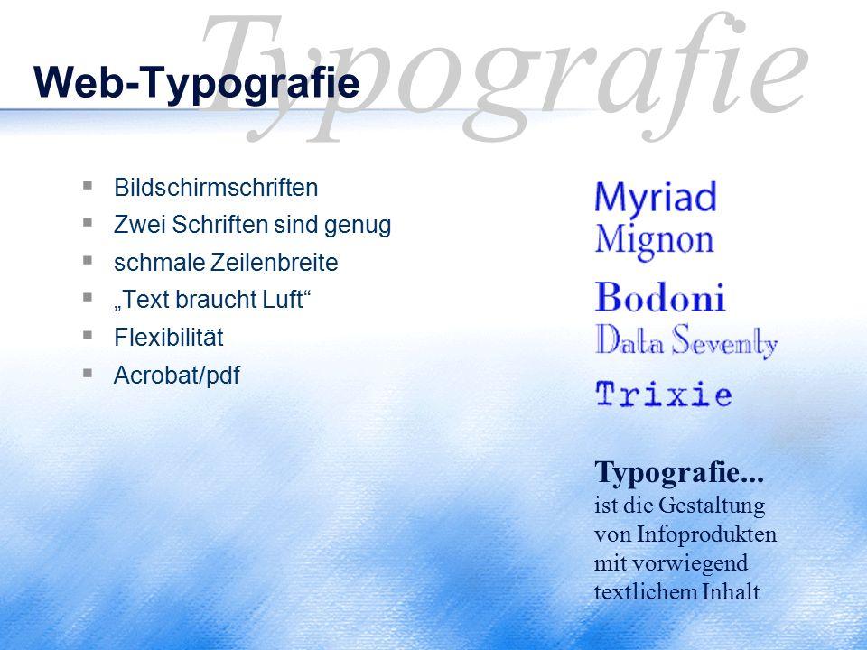 Typografie Web-Typografie