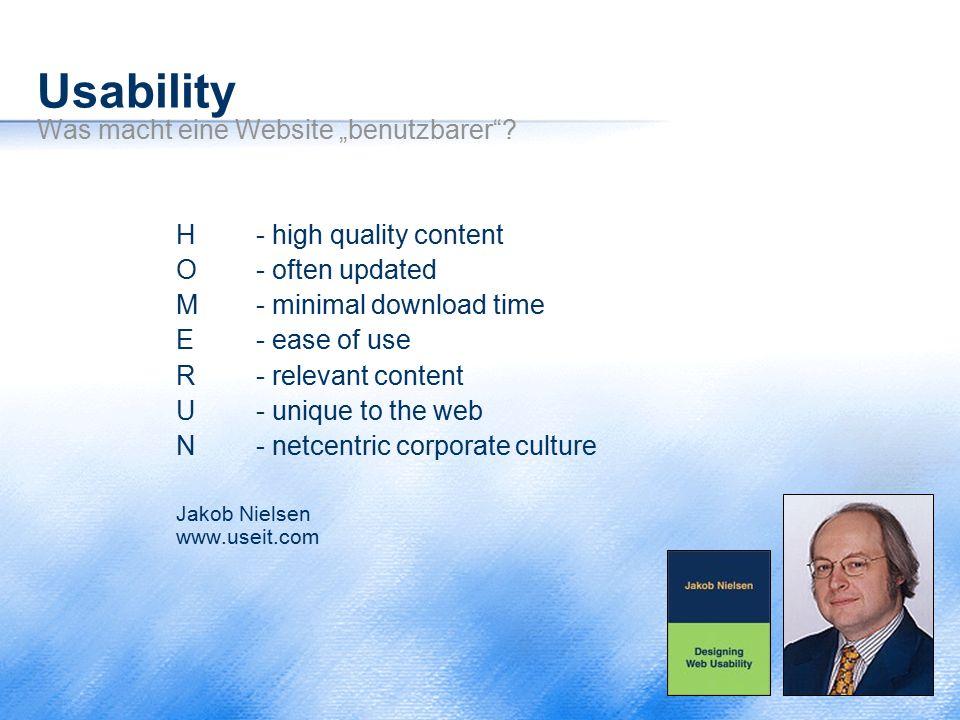"""Usability Was macht eine Website """"benutzbarer"""