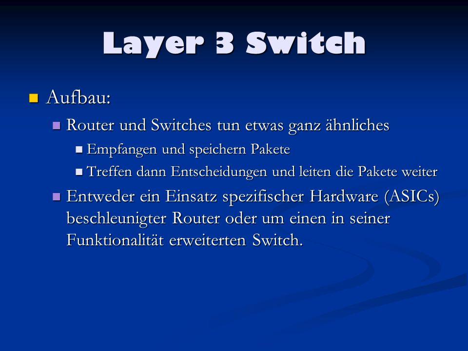 Layer 3 Switch Aufbau: Router und Switches tun etwas ganz ähnliches