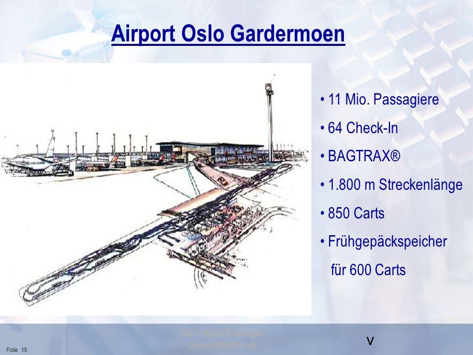Airport Oslo Gardermoen