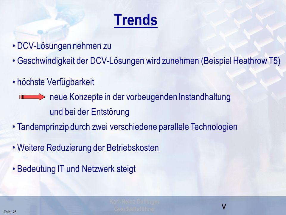 Trends DCV-Lösungen nehmen zu