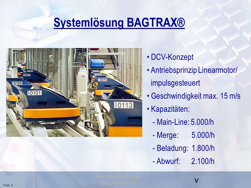 Systemlösung BAGTRAX®